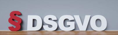 DSGVO Symbol vor Wand
