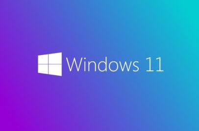 Stardbildschirm mit Logo Windows 11