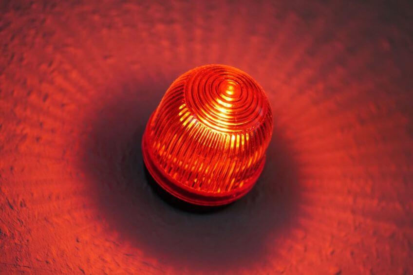 Rotes Rundumlicht Alarm