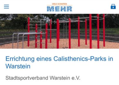 Bild der Calisthenics Anlage