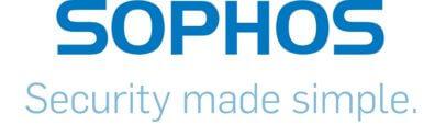 Sophos Firmenlogo mit Security made simple Schriftzug