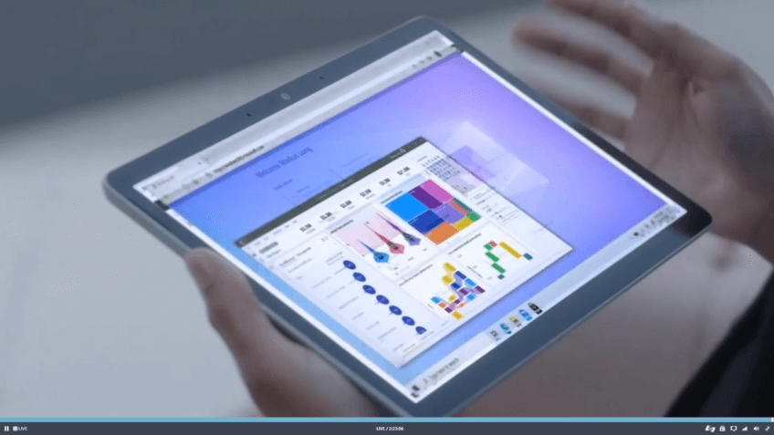 Tablet mit Cloud Windows 365